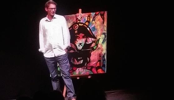 Laurent Massei « l' homme sensuel et serein » du 1er Festival de théâtre d'Ajaccio