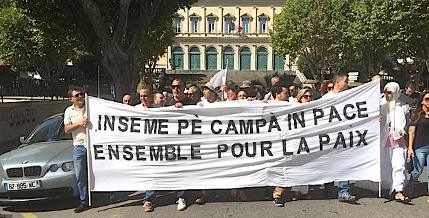 Bastia en marche pour la paix