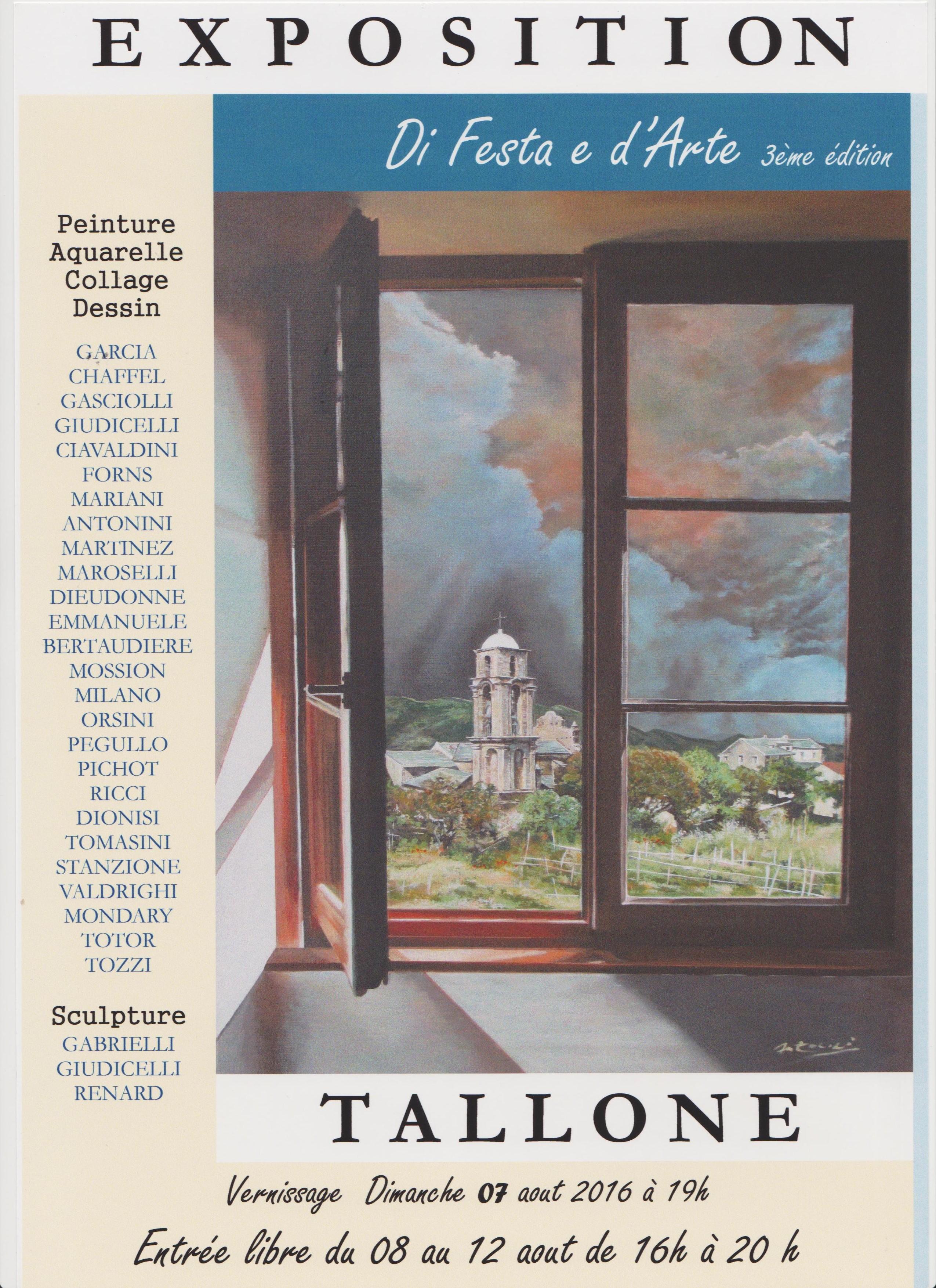 Tallone : 29 artistes à « Di Festa e d'Arte »
