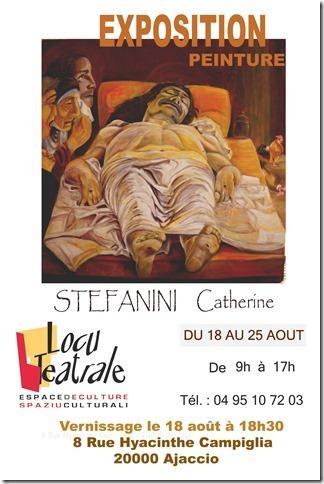 Exposition de peinture de l'artiste Catherine Stefanini à Ajaccio
