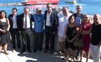 Oscar Temaru, candidat à la présidentielle de 2017, en visite à Bastia