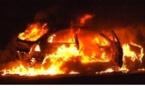 Un vehicule incendié route de Ghisoni
