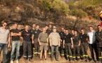 Incendie de la Conca d'Oru : Gilles Simeoni avec élus et pompiers sur les lieux du sinistre
