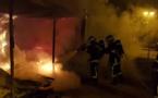 Ajaccio : Des installations de chantier détruites par les flammes