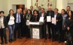 Signature de la charte de la langue corse par Bastia, Bastelicaccia et i Tarucconi