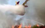 Biguglia : 10 000 m3 cubes de bois en feu à Tragone