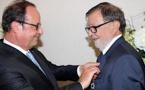François Hollande à Monticellu pour remettre les insignes de la Légion d'honneur à Hyacinthe Mattei