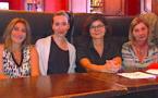 Pascale Cousin (Réseau Rivage), Leslie Pellegri (Mairie Bastia), le Dr Marie-Pierre Pancrazi et Caroline Tissier (Consultation mémoire)