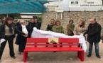 Violence à l'égard des femmes : Le banc rouge installé face au lycée Laetitia d'Ajaccio