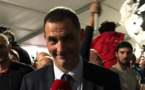 La joie de Gilles Simeoni, leader des Nationalistes corses.
