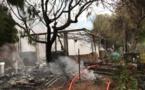 Cargese : Un chalet détruit par un incendie