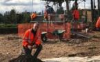 Pascal Tramoni, spécialiste de la préhistoire méditerranéenne, du Néolithique de la Corse, et responsable scientifique de la fouille d'Aleria en archéologie préventive, sur le site du village néolithique Lindinacciu.