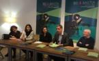 Pierre Savelli, maire de Bastia, Mattea Lacave, adjointe déléguée à la culture et Juana Macari, directrice de Una Volta ont présenté la 25ème édition de BD Bastia