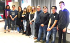 Enseignants et élèves du collège St Joseph ont présenté jeudi soir E Corsica, une mini-entreprise dévolue au traitement des déchets