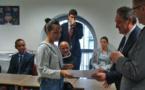 Le préfet de Haute-Corse visite l'école de la 2e chance à Bastia