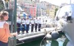 """Bastia : La championne olympique Marie Dorin-Habert, marraine de """"Libecciu"""" la nouvelle vedette des Douanes"""