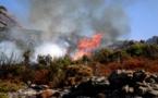 Sorbo-Ocagnano : Le feu du tracteur se propage aux herbes sèches et au maquis. 20 ha détruits