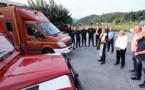 Solidarité au centre de secours de Vero : Véhicule et matériels prêtés par le SDIS 2B