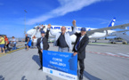 Air Corsica fête son cent millième passager sur Bruxelles-Charleroi