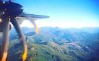 La photo du jour : Entre Bastia et Nice, sur les ailes d'Air Corsica