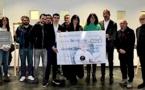 L'association Jean-Philippe Martinetti remet un chèque de 8 000€ à Inseme