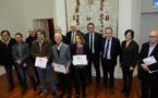 Les lauréats du prix du Livre de la Collectivité de Corse honorés à l'Hôtel de Région