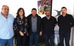 Simon-Jean Savelli (deuxième à partir de la droite) avec une partie de son comité directeur