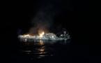 Vidéo : Une vedette brûle et coule au large de Cargese