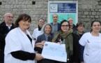 Ligue contre le Cancer : 14 574€ pour le pôle oncologie de Castelluccio