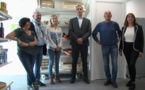 Pierre Savelli, maire de Bastia, et les responsables du CCAS ont présenté mercredi l'Epicerie Educative