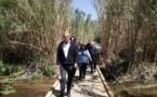 A Aregnu-plage une nouvelle  passerelle s'ouvre sur le tracé de la voie verte