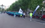 Derrière la championne de karaté  Alexandra Feracci, porte-drapeau, les 14 délégations ont défile sur la place St Nicolas mercredi soir