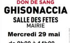 Don du sang : Prochaine collecte à Ghisonaccia ce  mercredi 29 mai