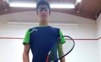 Antonin Romieu en finale de l'Italian Open  Junior de squash