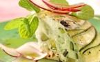 A table : terrine de brocciu aux courgettes