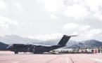 Fin de campagne de sauts d'expérimentation avec le 2e REP pour l'A400M à Calvi