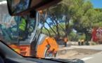 Les travaux de la route de l'aéroport de Calvi ont débuté