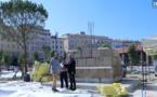 Ajaccio : restauré, le socle du monument aux morts retrouve la place Campinchi