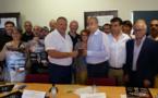 Le président national des Chambres de Métiers et de l'Artisanat Bernard Stalter en visite en Corse