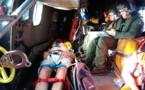 Un plaisancier secouru à Girolata par un hélicoptère  de l'escadron 1/44 de Solenzara