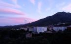 La photo du jour : coucher de soleil sur Corte