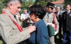 Promue au grade d'officier de l'ordre national du Mérite Jeannine Maraninchi décorée à Calvi par le général Puga