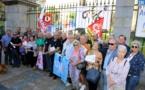 Les retraités et futurs retraités inquiets ont manifesté devant la préfecture d'Ajaccio