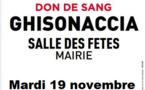 Don de sang : une collecte ce 19 novembre à Ghisonaccia
