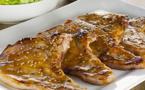 A table : côtes de porc au miel du maquis