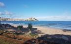 La photo du jour : la plage de Calvi en hiver