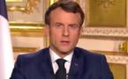 """Macron précise le 11 Mai : un retour à l'école """"sur la base du volontariat"""", pas de déconfinement régionalisé ni de port du masque obligatoire..."""
