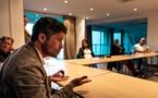 Jean-Félix Acquaviva a répondu à l'invitation des socioprofessionnels de Balagne ( Photos Eyefinity Prod/Kevin Guizol