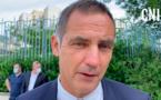 Gilles Simeoni, président du Conseil éxécutif de la Collectivité de Corse, mardi matin, à Bastia.