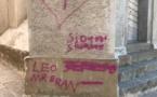 Des tags sur le campanile de l'église et autres exactions à Calenzana